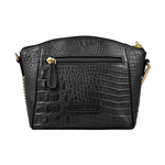 ELINOR 03 SB WOMENS HANDBAG BABY CROCO,  black