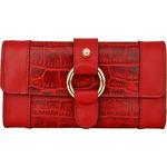 Nakasu W3 Women s Wallet, Croco Melbourne,  red, croco