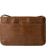 Claea W3 Women s Wallet, Cement Croco Lamb,  tan, croco