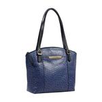 Maple 03 Sb Women s Handbag Ostrich Embossed Melbourne Ranch,  midnight blue