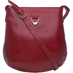 Blanche 01 Crossbody,  dark red, ranchero