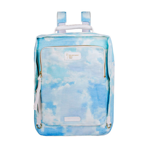Sac A Dos (C) Backpack, Canvas,  white