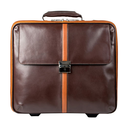 KINGSLEY 02 Wheelie bag,  brown