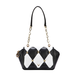 FLAPPER GIRL 01 WOMEN'S HANDBAG LAMB,  black