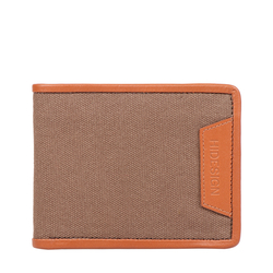 369-017 RF MENS WALLET CANVAS,  tan