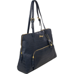 109 02 Women s Handbag, Croco,  blue