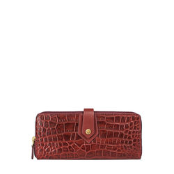 Hongkong W2 Sb (Rfid) Women's Wallet Croco,  red