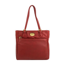 Lucia 01 Handbag, cow deer,  red
