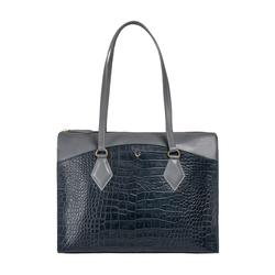 Kasai 01 Sb Women's Handbag, Croco,  midnight blue
