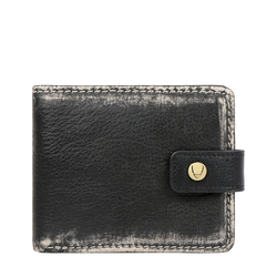 381-L107 RF MENS WALLET AFGHAN,  black