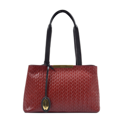 EE LEO 01 WOMENS HANDBAG WOVEN MELBOURNE RANCH,  red