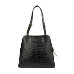 109 01 Women s Handbag, Croco,  black