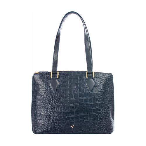 Scorpio 02 Sb Women s Handbag Croco,  midnight blue