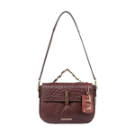 ROMANCE 01 WOMENS SLINGBAG OSTRICH EMBOSSED,  brown