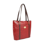 FUSCHIA 01 SB WOMENS HANDBAG FLOWER EMBOSSED,  red