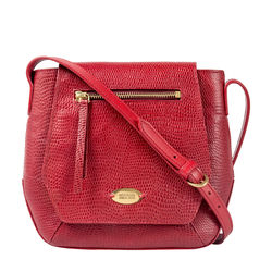 Taurus 01 Women's Handbag, Lizard,  red