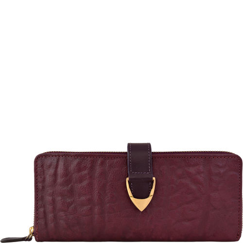 Yangtze W2 Women s wallet, Elephant Ranch,  aubergine
