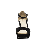 Marilyn Women s Shoes Suede - 40,  black