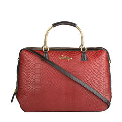 Royale 01 Women's Handbag, Cow Snake Melbourne Ranch,  red