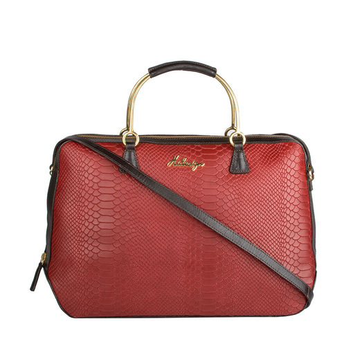 Royale 01 Women s Handbag, Cow Snake Melbourne Ranch,  red