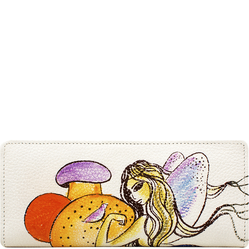The Dormouse Women s Wallet, Cow Deer,  white, cow deer