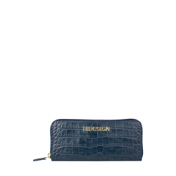 Carly W3 (Rfid) Women's Wallet, Croco Melbourne Ranch,  blue