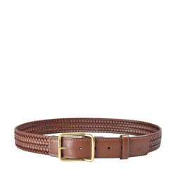 Pisa Men's Belt 32-34 Ranchero Woven,  tan