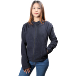 LIZZO WOMENS JACKET SUEDE,  blue, s