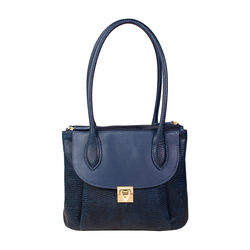 Tabit 02 Handbag, lizard,  blue