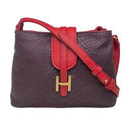 SB Silvia 03 Women's Handbag Snake,  aubergine