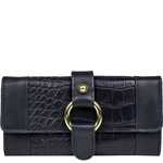 Nakasu W3 Women s Wallet, Croco Melbourne,  blue, croco