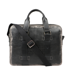 GRUNGE 02 BRIEFCASE AFGHAN,  black