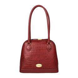 Ee Cleo 01 Handbag, croco,  red