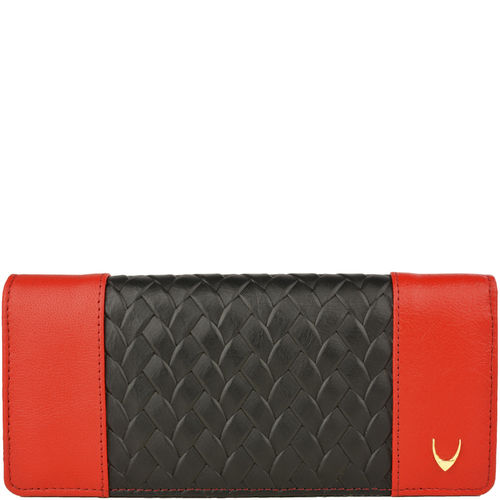Marty W3 Women s wallet, Hdn Woven Ranchero Lamb,  black