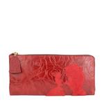 Rose W3 Women s wallet, Rose Emboss Mel Ranch Suede,  red