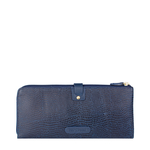 HONG KONG W3 SB(RFID) WOMEN S WALLETS LIZARD,  midnight blue