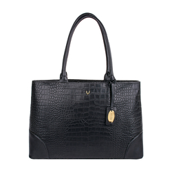 EE BERLIN 01 WOMENS HANDBAG CROCO,  black