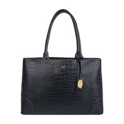 BERLIN 01 SB WOMEN'S HANDBAG CROCO,  black