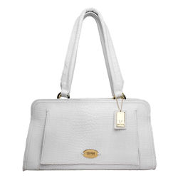 Orsay 03 Women's Handbag, croco,  white