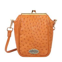 Argonne Women's Handbag Ostrich,  tan