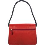 De Lucchi 01 Handbag,  aubergine, snake