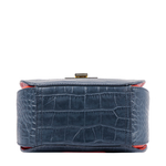FLING 01 WOMENS HANDBAG CROCO,  midnight blue