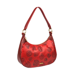 Keaton 02 Women s Handbag E I Flower Embossed,  dark red