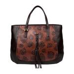 Meryl 02 Women s Handbag, E. I. Leaf Emboss Roma,  tan
