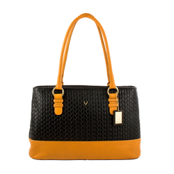 MARTY 01 WOMENS HANDBAG WOVEN,  black