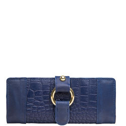 Nakasu W2 (Rfid) Women's Wallet Croco Melbourne,  blue