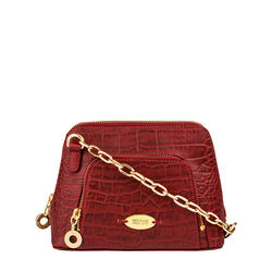 Mb Ginny Sling bag, croco,  red