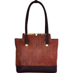 Shinjuku 01 Handbag, woven,  brown