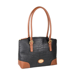 Saturn 01 Sb Women s Handbag, Croco Melbourne Ranch,  black