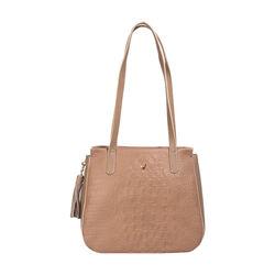 Rive Gauche 02 Women's Handbag, Baby Croco,  nude